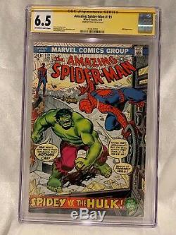 Amazing Spider-man #119 Cgc 6.5 Signed Stan Lee Hulk