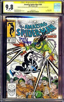 Amazing Spider-man #299 Cgc 9.8 Ss 3x Sign Stan Lee Todd Mcfarlane Michelinie Nm