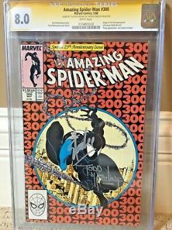 Amazing Spider-man #300 Cgc 8.0 Ss Signed Stan Lee & Todd Mcfarlane Venom
