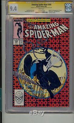 Amazing Spider-man #300 Cgc 9.4 Ss Signed Stan Lee & Todd Mcfarlane Venom