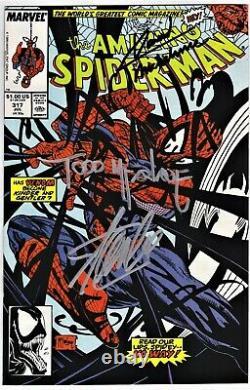 Amazing Spider-man # 317 Signed Stan Lee, Mcfarlane, Venom, 316, Nm, No Coa