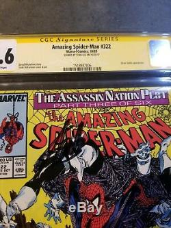 Amazing Spider-man #322 Cgc 9.6 Ss Signed By Stan Lee-mcfarlane Art-silver Sable