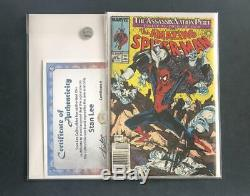 Amazing Spider-man #322 Signed By Stan Lee Silver Sable Mcfarlane 300 1 Venom