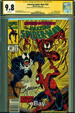 Amazing Spider-man #362 Cgc 9.8 Double Signed By Stan Lee & M Bagley! Newsstand