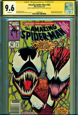 Amazing Spider-man #363 Cgc 9.6 2x Signed By Stan Lee & Mark Bagley-newsstand Ed