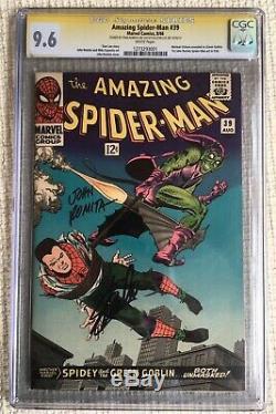 Amazing Spider-man # 39 CGC 9.6 SS signed 2x Stan Lee & 1st Romita Movie Goblin