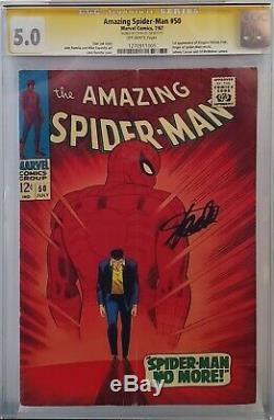 Amazing Spider-man #50 Cgc 5.0 Ss Signed Stan Lee 1st Kingpin