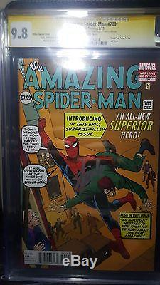 Amazing Spider-man #700 Ditko Variant CGC SS 9.8 Stan Lee Signed 90th Birthday