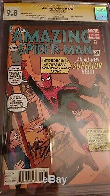 Amazing Spider-man #700 Ditko Variant Cgc 9.8 Signature Series Signed Stan Lee