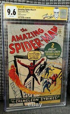 Amazing SpiderMan #1 CGC 9.6 (1966 Golden Record Reprint) Signed Stan Lee