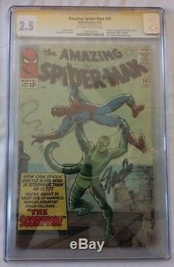 Amazing Spiderman #20 CGC Signed Stan Lee 1st Appearance Scorpion
