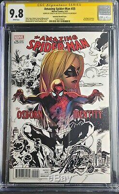 Amazing Spiderman 25 Immonen Var 9.8 CGC Signed By STAN LEE On His 95th BIRTHDAY