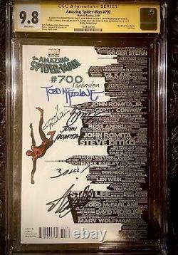 Amazing Spiderman #700 7x Signed Stan Lee, Romita, Rubinstein, Mcfarlane, Bagley