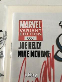 Amazing spiderman 606 sketch signed by stan lee j scott campbell