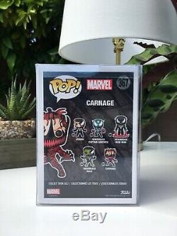Autographed Carnage Funko Pop Signed by Stan Lee (Rare!)