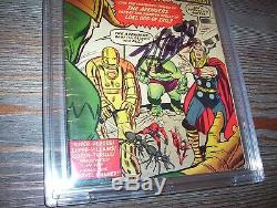 Avengers 1 CBCS 4.5 Signed Stan Lee X2 and Jack Kirby Verified Holly Grail CGC
