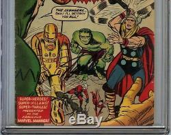 Avengers #1 CGC 5.0 VG/FN Signed STAN LEE Origin & 1st appearance of Avengers