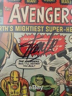 Avengers #1 CGC Signature Series 5.5 Signed by Stan Lee