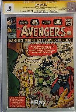 Avengers #1 Cgc. 5 Ss Signed Stan Lee