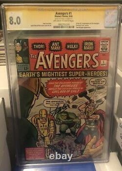 Avengers #1 Cgc 8.0 Stan Lee Signed Awesome Comic 1963