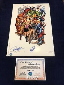 Avengers 1 SDCC Heroes Campbell Color Litho Signed by Stan Lee & Campbell with COA