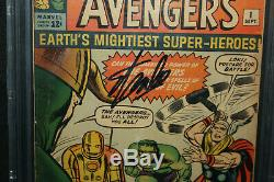 Avengers #1 Signed by Stan Lee 1st App Avengers CBCS Authentic 4.5 1963