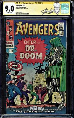 Avengers #25 Cgc 9.0 White Pages Ss Stan Lee Signed Cgc #0351065020