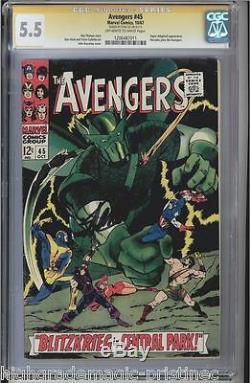 Avengers #45 Cgc 5.5 Oww Stan Lee Ss Signed Super-adaptoid App Cgc #1206487011