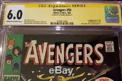 Avengers #54 CGC SS 6.0 Signed By Stan Lee 1st App of the New Masters of Evil
