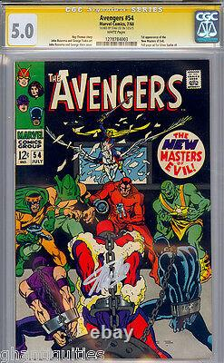 Avengers #54 Cgc 5.0 White Pages Ss Stan Lee Signed Cgc #1278784003