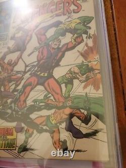 Avengers 55 CGC SS 6.0 Signed Stan Lee 1st Ultron Crimson Cowl 1968