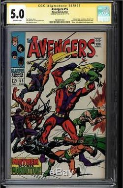 Avengers #55 Cgc 5.0 Ss Stan Lee Signed Sig Series Cgc #1434691002