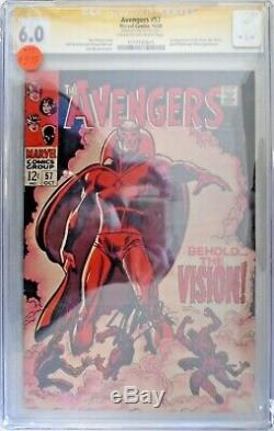 Avengers #57 6.0 CGC Signed by Stan Lee