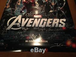 Avengers El Capitan movie premier signed poster Stan Lee Robert Downey jr