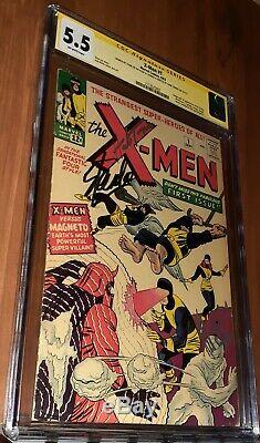 CGC 5.5 X-Men # 1 Signed ss Stan Lee and Herb Trimpe Wolverine Sketch. 1st X-Men