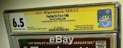 CGC 6.5 ss Signed By Stan Lee + Joe Sinnott Fantastic Four 48. 1st Silver Surfer