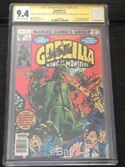 CGC SS 9.4 Godzilla #1 Signed by Stan Lee, Nakajima, Kitagawa, Satsuma, Yoshida