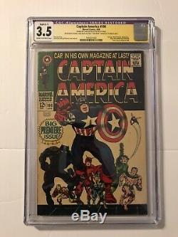 Captain America #100 CGC 3.5R SS Signed by Stan Lee and Jack Kirby
