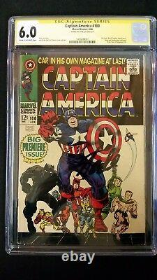 Captain America #100 Cgc 6.0 Ss Signed Stan Lee Marvel Silver Age 1st Issue
