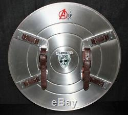 Captain America Full-Size 24 Metal Shield Hand Signed by Stan Lee & Chris Evans