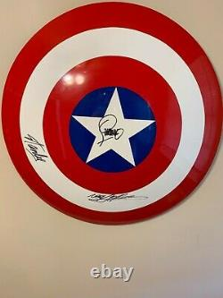 Captain America Shield. Signed by Stan Lee and certified