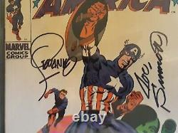 Captain america 111 cgc ss 7.0 Signed 3X Stan Lee, Joe Sinnott, Jim Steranko