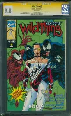 Carnage vs Venom 1 CGC SS 9.8 Stan Lee signed Embossed Wild Thing 1993 Cover