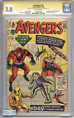 Cgc Ss 3.0 Avengers #2- Signed By Stan Lee @ Stan Lee Tribute Event
