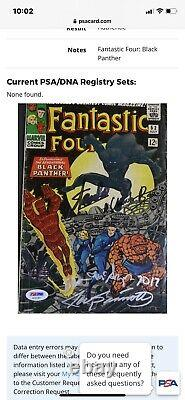 Chadwick boseman signed Rare Fantastic Four 52, Stan Lee, Joe Sinnott, PSA COA