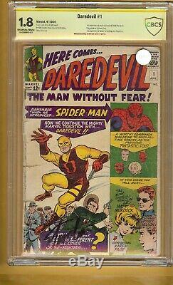 DAREDEVIL#1 SS SIGNED STAN LEE Off White to White Pages