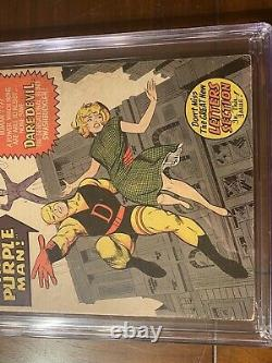 DAREDEVIL #4 10/64 CGC 6.0 OWithW SS STAN LEE! FIRST PURPLE MAN! NICE SIGNED KEY