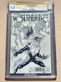 DEATH OF WOLVERINE #1 CGC 9.8 NM! Signed by Stan Lee & Herb Trimpe Sketched