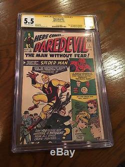Daredevil #1 1st Daredevil! CGC 5.5 SS Stan Lee Signed