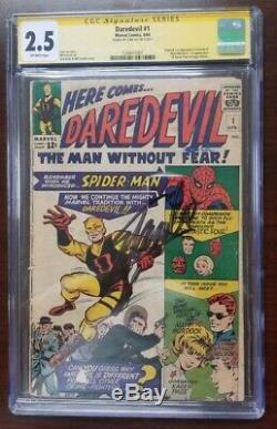 Daredevil #1 CGC 2.5 SS signed by Stan Lee 1st Appearance Origin 1964 Silver Key